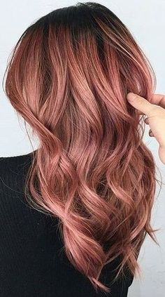 28 Crazy Fun Hair Color Ideas for Brunettes That Really Rock Your Hair - Latest . - 28 Crazy Fun Hair Color Ideas for Brunettes That Really Rock Your Hair – Latest Hair Colors - Gold Hair Colors, Hair Color Pink, Cool Hair Color, Brown Hair Colors, Red Ombre Hair, Hair Color Balayage, Rose Gold Balayage Brunettes, Red Hair, Ombre Rose