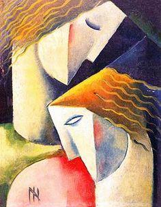 Cubismo / Ismael Nery (1900 - 1934), Brazilian / As características do movimento pela utilização de formas geométricas para retratar a natureza.