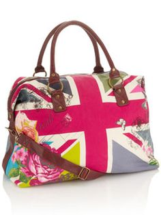 After the events of this weekend I would love to go visit jolly old England w/ this bag- UNION JACK WEEKENDER