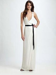 38e7af7ce6 Diane Von Furstenberg Yahzi Gown from Saks Fifth Avenue White Sparkly  Dress