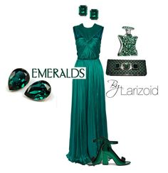 """""""Esmeralda"""" by larizoid ❤ liked on Polyvore featuring Lanvin, Mulberry, Giorgio Armani and Bond No. 9"""