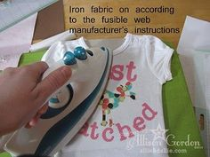 Cutting fabric with a Cricut...amazing idea! I am soooo doing this! I love personalized clothes for baby!