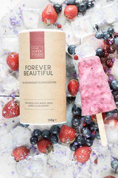 Frozen Yogurt με Forever Beautiful | NEANIKON Frozen Yogurt, Superfoods, Blueberry, Seeds, Cheese, Beautiful, Berry, Super Foods, Blueberries