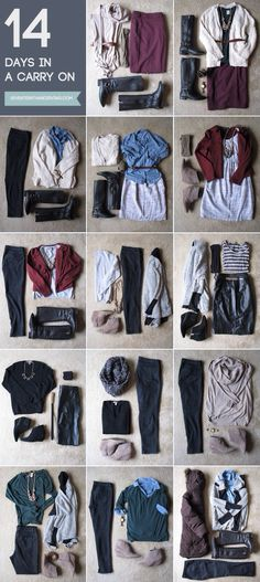 14 day outfits in a carry-on