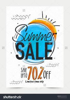 Summer Sale Banner, Sale Poster, Sale Flyer, Sale Vector. 70% Off, Sale…