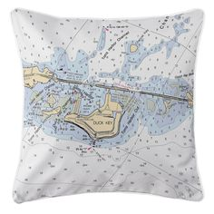 FL: Duck Key, FL Nautical Chart Pillow