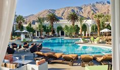 Riviera Palm Springs- Once the go-to spot in the California desert for Frank Sinatra, Dean Martin, and Elvis Presley, today's Riviera Palm Springs sports a seventy-million transformation designed for twenty-first-century luminaries.