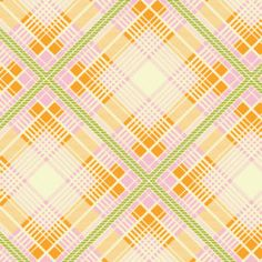 Up Parasol, from Heather Bailey and FreeSpirit/Westminster fabrics, Summer Plaid Tangerine, 1/2 yard total $4.50.Ships worldwide from Vegas, Nevada  ETSY