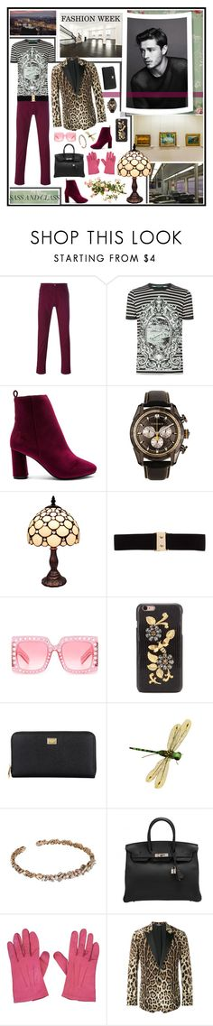"""""""vibrant menswear"""" by whimsical-angst ❤ liked on Polyvore featuring Dolce&Gabbana, Raye, Versace, Amora, Thomas Wylde, Gucci, Suzanne Kalan, Hermès, Chanel and men's fashion"""