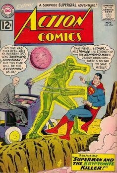 Superman Fan Podcast Episode #291 Part II: Superman Comic Book Cover Dated November 1962: Action Comics #294! http://thesupermanfanpodcast.blogspot.com/2014/01/episode-291-part-ii-superman-comic-book.html