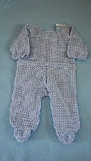 Footed Pajamas For Baby Free Crochet Pattern
