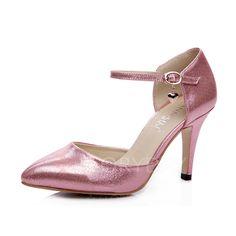 Zapatos - $40.13 - De mujer Salón Cerrados Tacones Tacón stilettos Cuero Zapatos (1625096667)