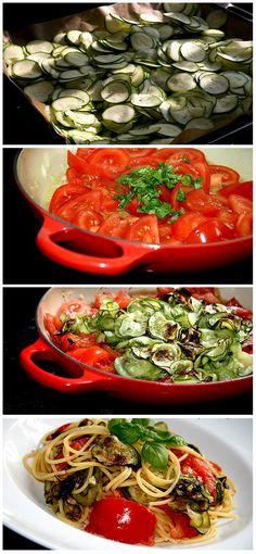 Zucchini and Tomato SpaghettiIngredients:• Zucc... - Inspiring picture on Joyzz.com