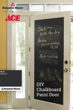 Home Organization, Home Projects, Farmhouse Decor, Home, Diy Chalkboard, Remodel, Home Remodeling, Chalkboard Paint Doors, Home Diy