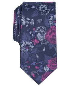 Bar Iii Men's Abernathy Floral Skinny Tie, Created for Macy's - Pink Tie And Pocket Square, Pocket Squares, Groom Ties, Skinny Ties, Floral Motif, Wedding Day, Create, Shopping, Style