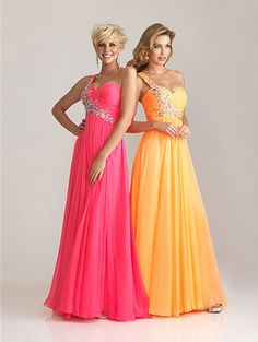 Pink and orange gala dress