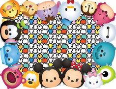 ❤️ Tsum Tsum Party Theme Letter Size Place Mats  Two Versions included: 1 with Tsum Tsum characters on a blank canvas and 1 with the Tsum Tsum
