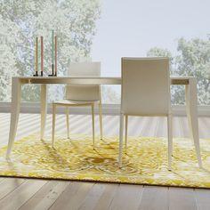 Tavolo da pranzo allungabile Rubino,  realizzato in MDF laccato in quattro misure diverse: da L. 130, L. 150, L. 170 e L. 198. Il tavolo è allungabile a varie lunghezze a seconda della misura scelta, potete visualizzare gli schemi e le dimensioni esatte nella tabella sottostante.  Il tavolo è realizzabile con colori a vostra scelta  (scala RAL),