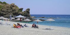 Korakas Beach in Rodakino, Rethimno, Crete Crete Greece, Greek Islands, Beaches, Places To Visit, Patio, Explore, Outdoor Decor, Crete, Vacations