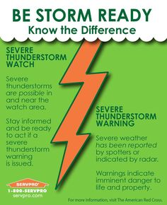 Severe storms are on the horizon this season. April showers not only bring flowers but also thunderstorms, severe weather, and water damage!