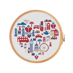 London in sampler  cross stitch pattern от PatternsCrossStitch