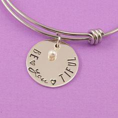Silver Bracelet With Cross Key: 1600999900 Stamped Jewelry, Metal Jewelry, Custom Jewelry, Jewlery, Jewelry Stamping, Silver Jewelry, Hand Stamped Metal, Bangle Bracelets With Charms, Metal Stamping