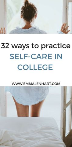 32 Self-Care Ideas to Practice in College | Fantastic list of 32 self-care ideas and activities to practice. Find something to calm yourself when you are feelings stressed or overwhelmed in college. Reduce stress or anxiety with these self-care activities! Start a new self care routine to get your life in balance.