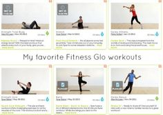 My favorite Fitness Glo workouts. #FitnessGlo