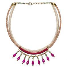 Pink Bazar Necklace by La Raffinerie beautiful!!