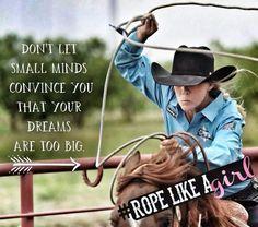 """❦ 'Rope like a girl """" - Lari Dee Guy - Cactus Ropes"""