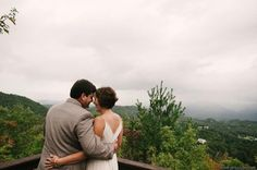 Mountain views - rustic outdoor mountain wedding in western North Carolina - Hawkesdene House