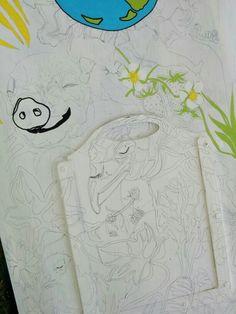 Detail. #pencil #paint #posca #pens #chick #chicken #pig #flowers #berries #carrot #loveanimalseatplants #vernapoppydesigns