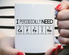 Gifts For Teacher I Periodically Need Caffeine Mug, Caffeine Molecule Mug, Nerd Mug, Gift For Scie… Chemistry Quotes, Chemistry Gifts, Science Teacher Gifts, Chemistry Teacher, Science Classroom, Chemistry Table, Funny Teacher Gifts, Teacher Christmas Gifts, Diy Christmas
