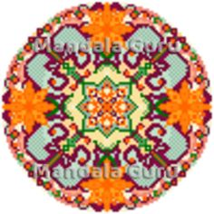 Your personalized mandala pattern for cross stitch! This is Julia's design, her zodiac is Aries and she loves the color orange - what's yours? Find out and chat with Mandala Guru Mandala Pattern, Mandala Design, Cross Stitch Designs, Aries, Orange Color, Zodiac, Home Decor, Room Decor, Aries Zodiac