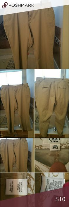 f3dfe157d92 Cato plus size khaki pants Cato Womens plus size no gap waist band khaki in  EUC