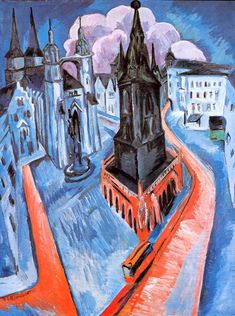 Ernst Ludwig Kirchner - The red Tower in Halle, 1915