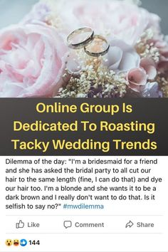 Online Group Is Dedicated To Roasting Tacky Wedding Trends Online Group Is Dedicated To Roasting Tacky Wedding Trends Tacky Wedding, Chic Wedding, Wedding Trends, Cute Casual Outfits, Chic Outfits, Room Ideas Bedroom, Cozy Bedroom, Online Group, Eye Makeup
