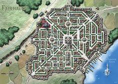 Fantasy Cartography by Sean Macdonald Coastal city map Mapas