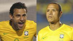 Na Seleção, Fred e Luis Fabiano terão as mesmas chances