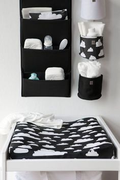 How to choose best changing table for baby Changing tables for your baby\'s nursery may not be the first thing on your list to purchase, but after the crib, it will be the most used furniture in the room. Baby Bedroom, Baby Boy Rooms, Baby Room Decor, Baby Boy Nurseries, Kids Bedroom, Room Baby, Nursery Room, Black White Nursery, Black And White Baby