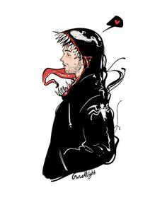 All Couple Avengers - Venom x EddieΣ( ° △ ° Venom Comics, Marvel Venom, Marvel Art, Marvel Avengers, Dc Comics, Eddie Brock Venom, Venom 2018, Venom Art, Spider Man