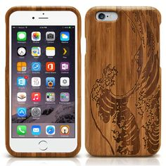 """iPhone 6 Plus Case, MagicMobile [Bamboo Hard] Case for iPhone 6 Plus Wood Protective [Luxury Handmade Design] Real Natural Wood [Wooden Bamboo Cover] for iPhone 6 Plus 5.5' [ Waves ] + Free Screen Protector Film. Handmade genuine natural wood case fits precisely the iPhone 6 Plus 5.5"""". Perfect protection and made of natural wood material protects you device from scratches and bumps. Natural Eco-Friendly + Handcrafted Cute design that were perfectly carved that makes you phone looks…"""
