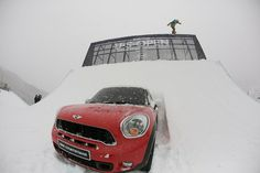 The Burton US Open snowboarders caught some serious air over this MINI Countryman.