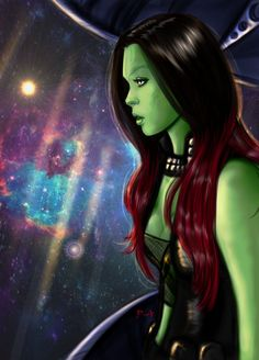"Concept art of Gamora from Marvel's ""Guardians Of The Galaxy"" (2014). Description from pinterest.com. I searched for this on bing.com/images"