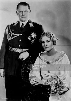Hermann Goering and his second wife Emma (Emmy) Johanna Henny Goering.