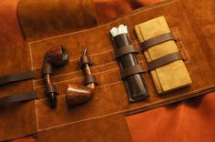 Pipe Rollup Bag | Dragonthorn Leatherworks