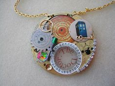 "Doctor Who ""The Universe Begins Again"" Necklace"