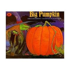 Big Pumpkin- my Pre-K loves this book. I got a new copy with the audio cd this year from Scholastic book order. Halloween Books For Kids, Halloween Fun, Books For Boys, Childrens Books, Biggest Pumpkin, Giant Pumpkin, Preschool Books, Cute Stories, Design Your Own
