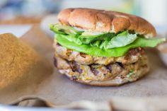 Cholula & Cheddar Turkey Burgers with Grilled Squash — Caroline Chambers