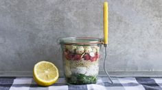 Give boring lunches the boot and pack one of these pretty, protein-filled salads in your lunchbox.